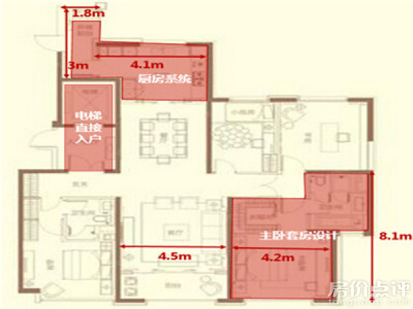 郑州 郑东新区 建业天筑   该户型为234㎡的四房,设计一般,各功能间